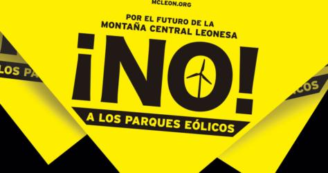 Banderola No a los Parques Eólicos